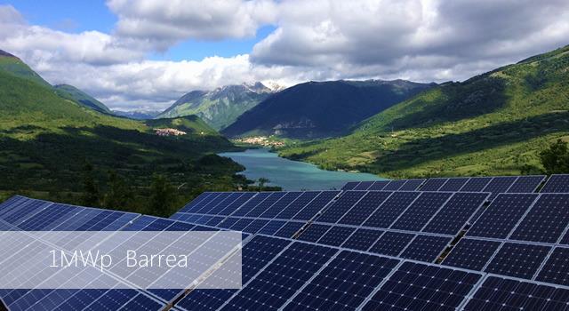 Photovoltaic power plant in Barrea